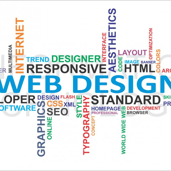 Word cloud – web design